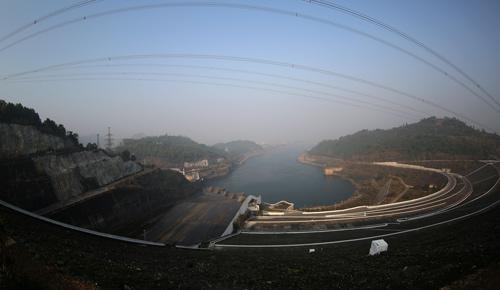 Phía hạ lưu của thủy điện Hòa Bình