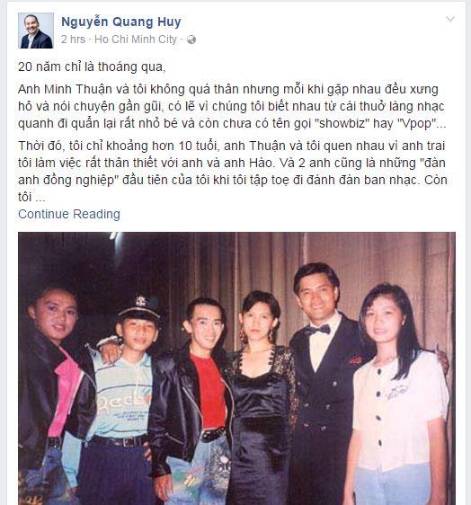Đạo diễn Quang Huy: Minh Thuận mất, cảm giác một phần thanh xuân của mình đã ra đi - Ảnh 1.
