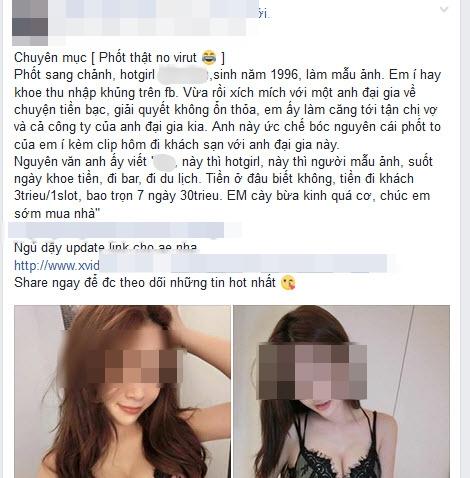 Sự thật tin đồn hot girl 96 đi khách bị tung clip sex - Ảnh 1.