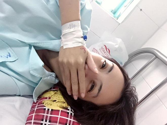 Hoa hậu hài Thu Trang bị chảy máu mũi không cầm được phải nhập viện cấp cứu - Ảnh 2.