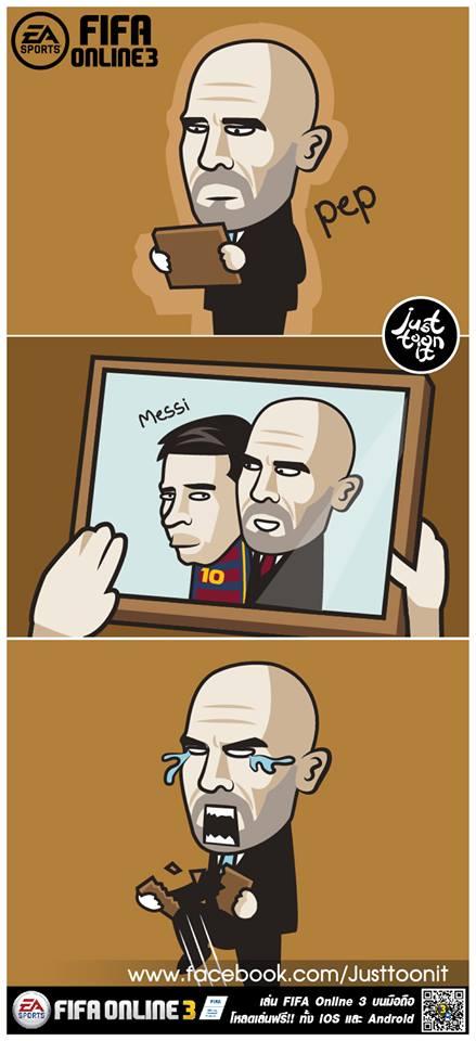 Pep Guardiola giận dỗi xé tan ảnh Messi - Ảnh 3.