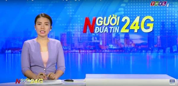 Nữ MC truyền hình Vĩnh Long có hành động gây tranh luận - Ảnh 1.