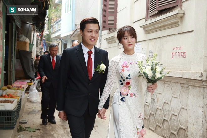 Nhan sắc lộng lẫy của vợ MC Hãy chọn giá đúng trong ngày rước dâu - Ảnh 1.