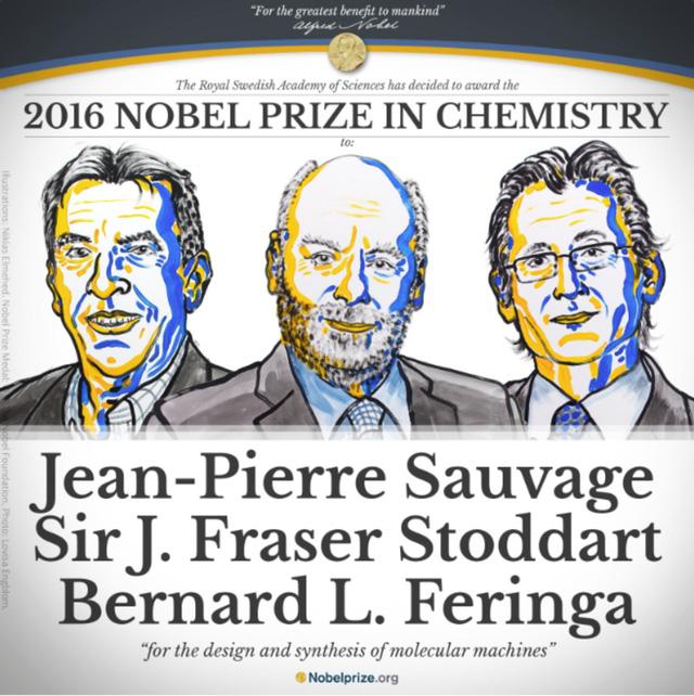 Ba nhà khoa học đoạt giải Nobel Hóa học 2016 đã chế tạo ra cỗ máy nhỏ nhất thế giới, kích cỡ phân tử như thế nào? - Ảnh 1.
