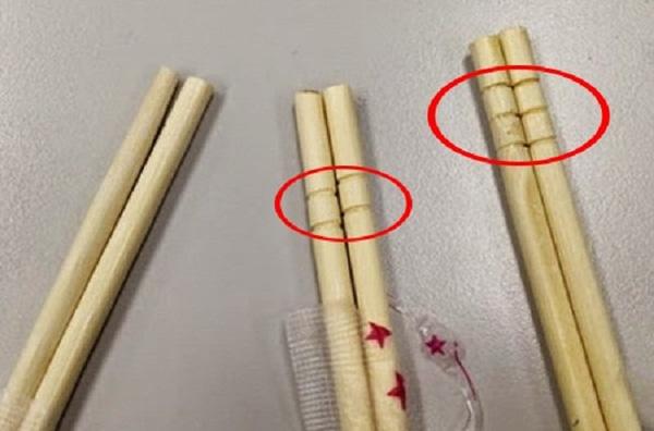 Nếu bạn thấy những vòng tròn trên đôi đũa dùng một lần, hãy bỏ ngay đừng dùng nó để ăn vì... - Ảnh 1.