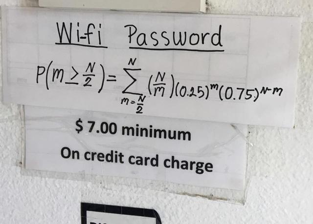 Mật khẩu wifi nhà hàng Thái Lan là phương trình Toán học siêu khó, đố bạn giải được - Ảnh 1.