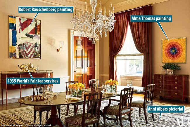 Có gì trong những căn phòng sinh hoạt của Tổng thống Obama và gia đình tại Nhà Trắng? - Ảnh 4.