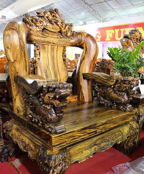The most expensive wood furniture of the rich in vietnam for World s most expensive furniture