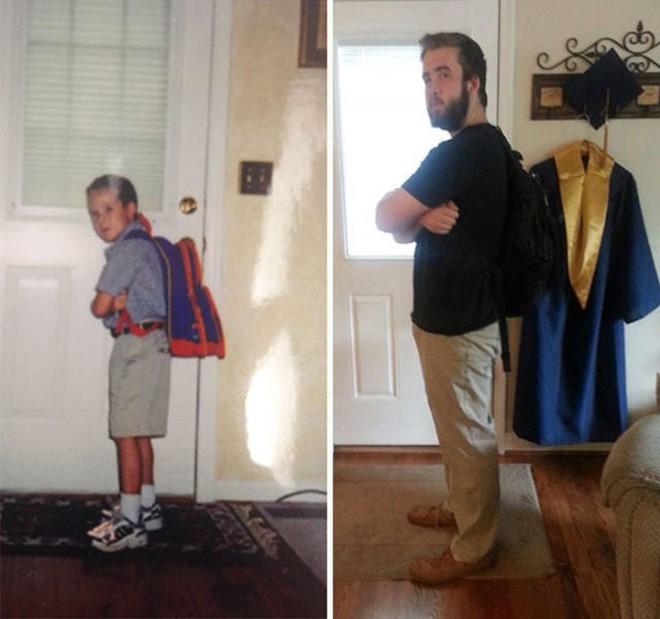 Trào lưu đăng ảnh ngày đầu tiên và ngày cuối cùng đến trường - Ảnh 4.