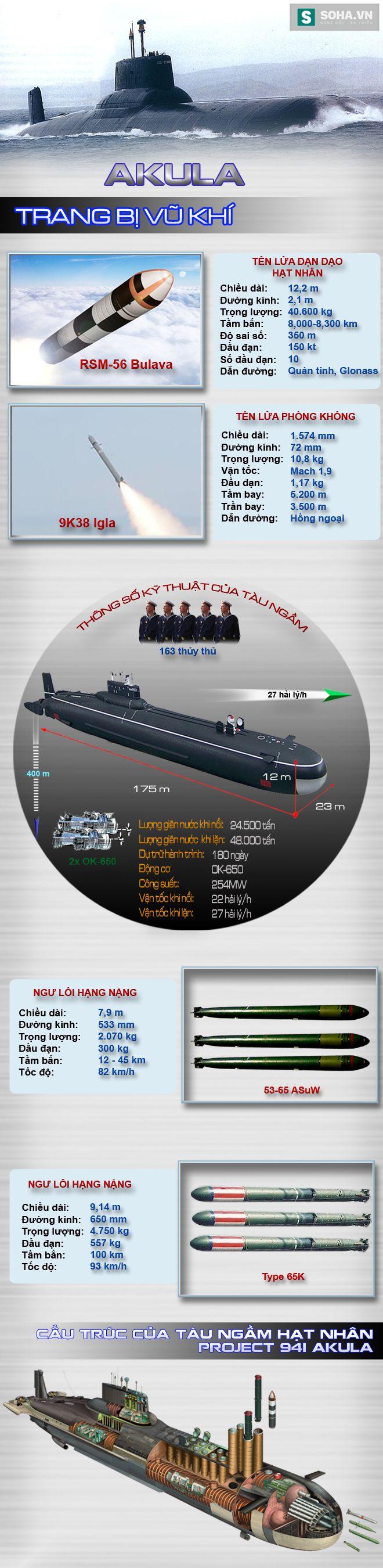 Khám phá sức mạnh tàu ngầm hạt nhân lớn nhất thế giới của Nga - Ảnh 2.