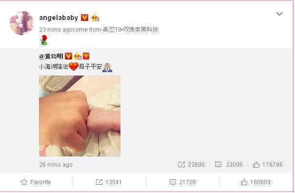 Angelababy và Huỳnh Hiểu Minh hạnh phúc đón con trai đầu lòng vừa mới chào đời - Ảnh 2.