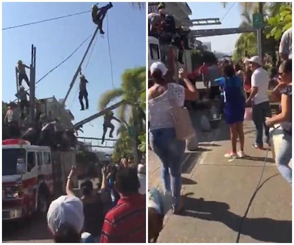 Clip: Gặp lỗi khi trình diễn, nhóm lính cứu hỏa bị ngã gãy xương - Ảnh 3.