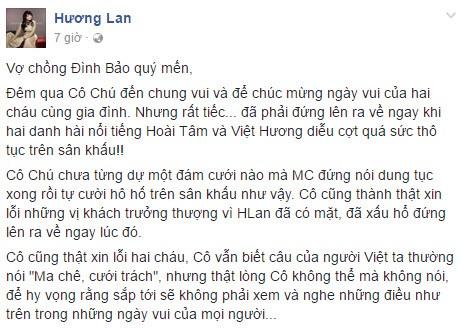 Việt Hương làm điều gì phản cảm khiến danh ca Lan Hương bỏ về? - Ảnh 1.