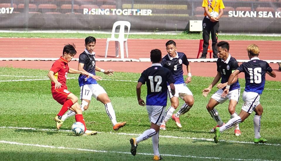 Bảng B SEA Games 29: U22 Việt Nam 4-1 U22 Campuchia