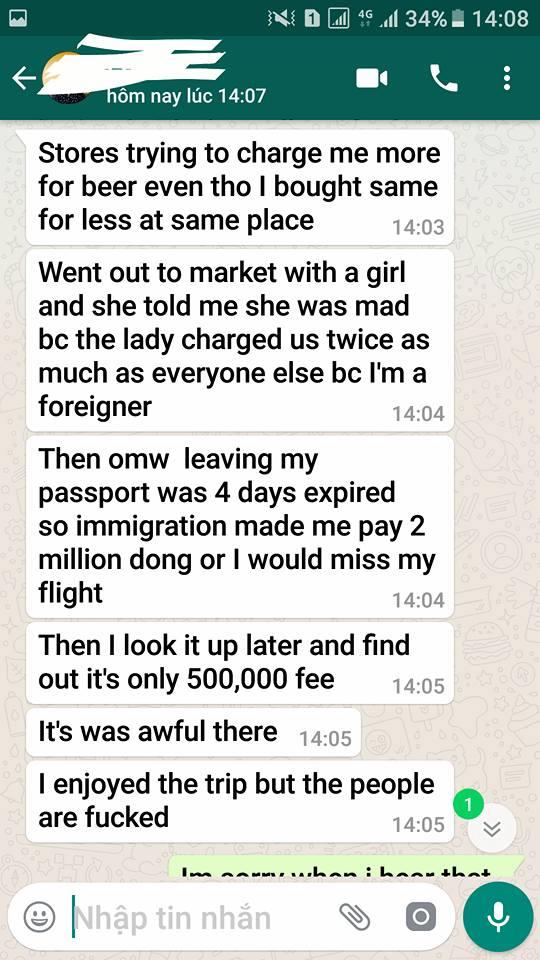 """Cô gái Việt buồn và xấu hổ khi người bạn Tây tuyên bố: """"Sẽ không bao giờ quay lại Việt Nam"""" - Ảnh 3."""