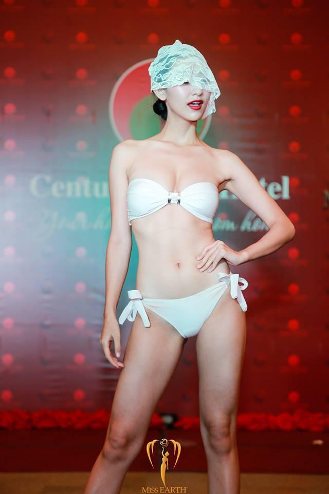 Hoa hậu Trái đất 2017: Hà Thu dẫn đầu bình chọn Gương mặt ăn ảnh - Ảnh 4.