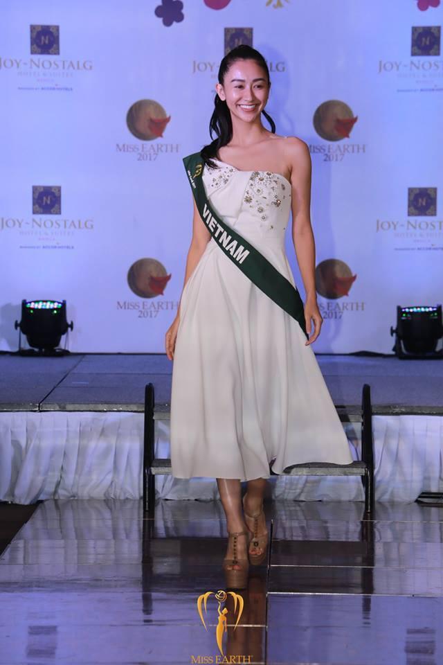 Hoa hậu Trái đất 2017: Hà Thu dẫn đầu bình chọn Gương mặt ăn ảnh - Ảnh 2.