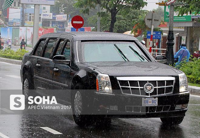 Dàn xe của tổng thống Trump hộ tống siêu xe Cadillac One The Beast xuất hiện trên phố Đà Nẵng - Ảnh 4.