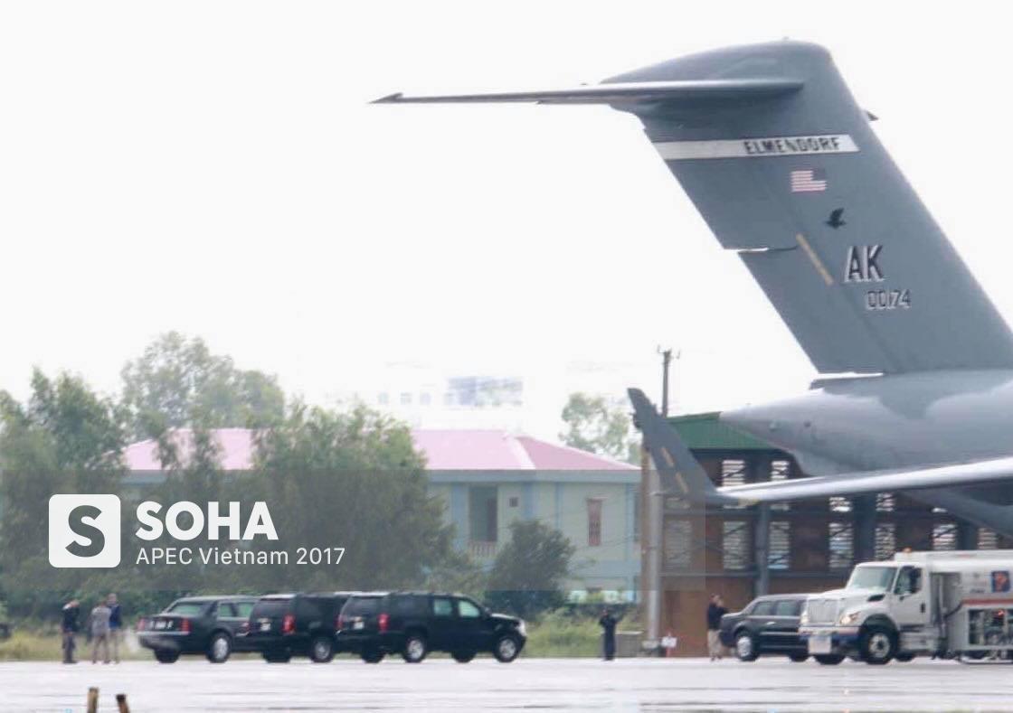 Cadillac One The Beast cùng dàn xe phục vụ Tổng thống Trump tại APEC đổ bộ Đà Nẵng - Ảnh 3.