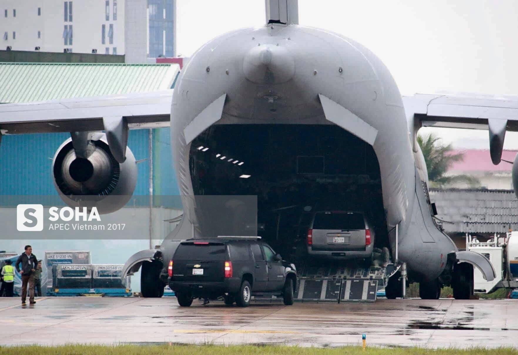 Cadillac One The Beast cùng dàn xe phục vụ Tổng thống Trump tại APEC đổ bộ Đà Nẵng - Ảnh 7.