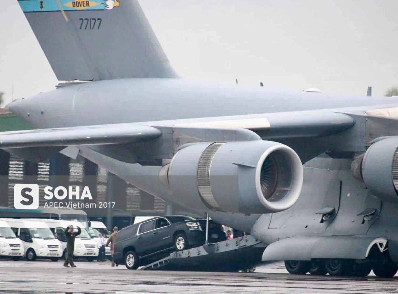 Cadillac One The Beast cùng dàn xe phục vụ Tổng thống Trump tại APEC đổ bộ Đà Nẵng - Ảnh 6.