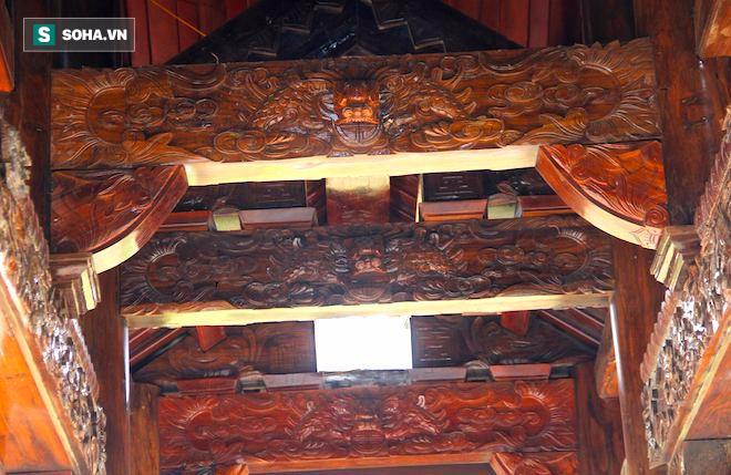 Cận cảnh cổng làng hơn 4 tỷ đồng làm từ gỗ quý ở Nghệ An - Ảnh 11.