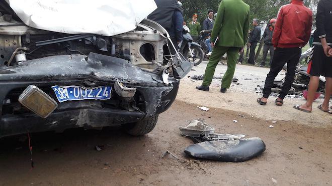 Vụ xe biển xanh va chạm xe máy làm 3 người chết: Ô tô chở lãnh đạo huyện đi công việc - Ảnh 3.