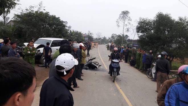 Vụ xe biển xanh va chạm xe máy làm 3 người chết: Ô tô chở lãnh đạo huyện đi công việc - Ảnh 4.