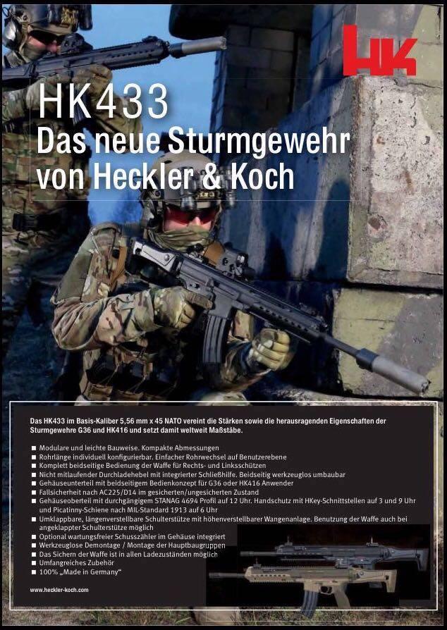 Súng trường tấn công HK433 - Sự kết hợp hoàn hảo giữa HK G36 và HK416 - Ảnh 2.