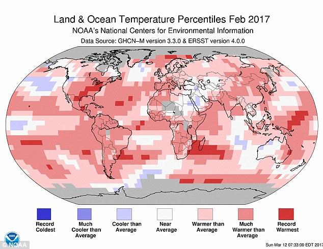 Không có El Nino nhưng nhiệt độ Trái Đất tháng 2/2017 vẫn đạt mức đáng sợ - Ảnh 1.