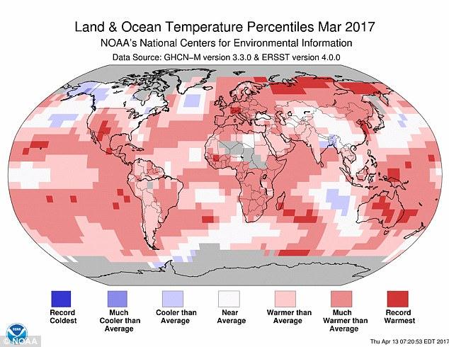 Nhiệt độ tháng 3/2017 cao kỷ lục: Kịch bản thảm họa khí hậu đang đáng sợ hơn bao giờ hết - Ảnh 1.