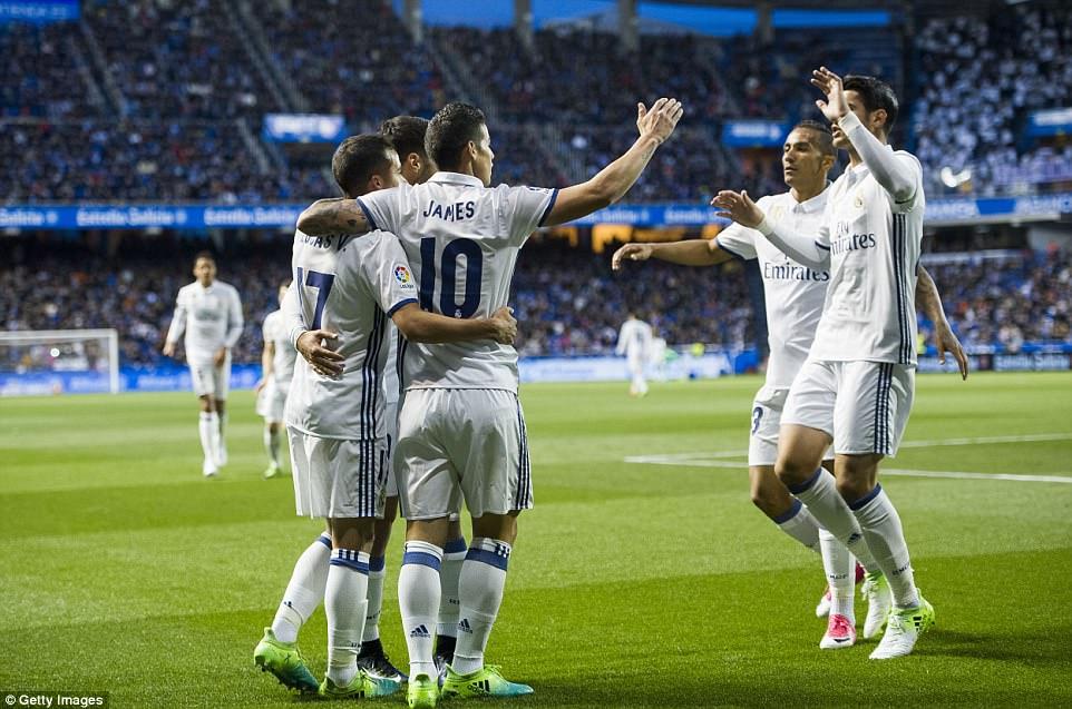 Vòng 34 La Liga: Deportivo 2-6 Real Madrid