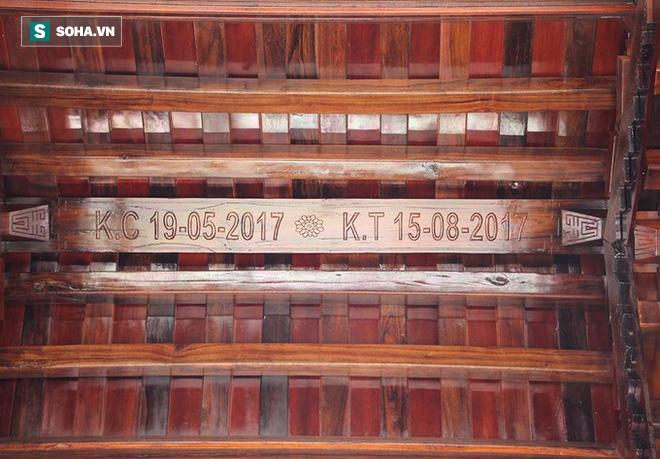 Cận cảnh cổng làng hơn 4 tỷ đồng làm từ gỗ quý ở Nghệ An - Ảnh 7.