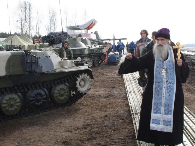 Đặc sắc nghi lễ ban phước cho vũ khí của Quân đội Nga - Ảnh 4.