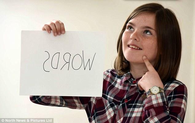 Hiếm gặp: Bé gái 10 tuổi có khả năng đọc ngược từ rất nhanh - Ảnh 6.