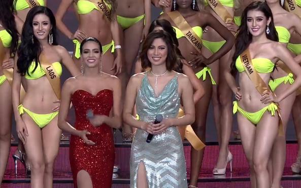 Bán kết Hoa hậu Hòa bình Quốc tế: Huyền My diễn bikini hoàn hảo, HH Hồng Kông gây thất vọng - Ảnh 8.