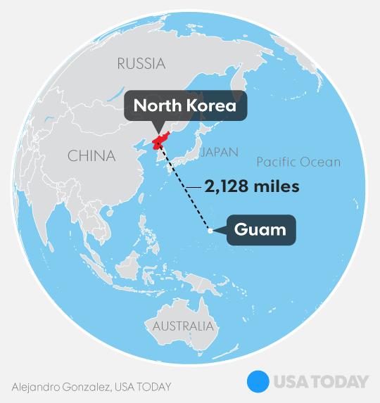Triều Tiên dọa nã tên lửa đảo Guam: Phi đội Mỹ đã xuất phát, Nhật-Hàn sẵn sàng nhập cuộc - Ảnh 1.