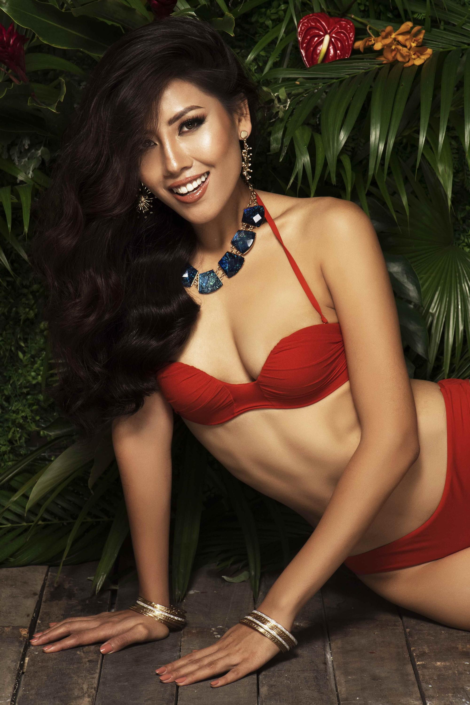 Nguyễn Thị Loan tung ảnh bikini bốc lửa trước chung kết Hoa hậu Hoàn vũ Thế giới