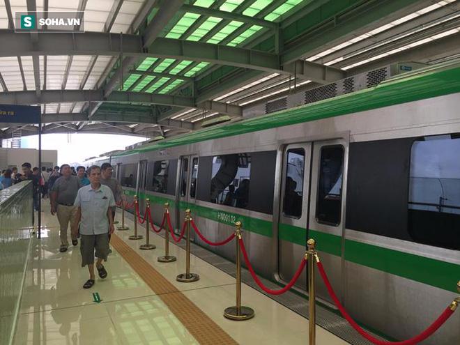Cận cảnh nhà ga, tàu đường sắt trên cao Cát Linh - Hà Đông - ảnh 4