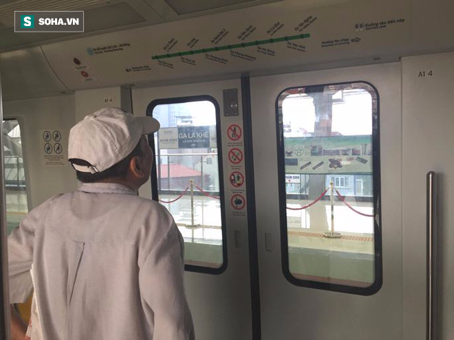 Cận cảnh nhà ga, tàu đường sắt trên cao Cát Linh - Hà Đông - ảnh 16