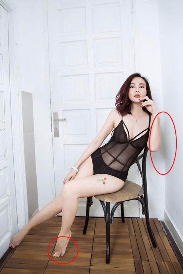 Lỗi hài hước gây cười trong bộ ảnh bikini nóng bỏng của Dương Yến Ngọc - Ảnh 3.