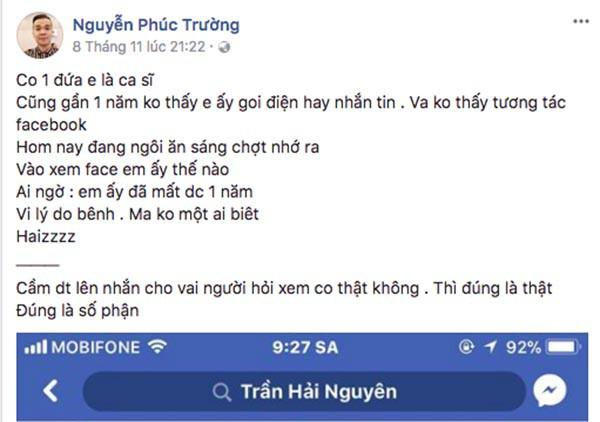 Giới nghệ sĩ Việt bất ngờ với tin nam ca sĩ đình đám đã qua đời từ năm 2016 - Ảnh 1.