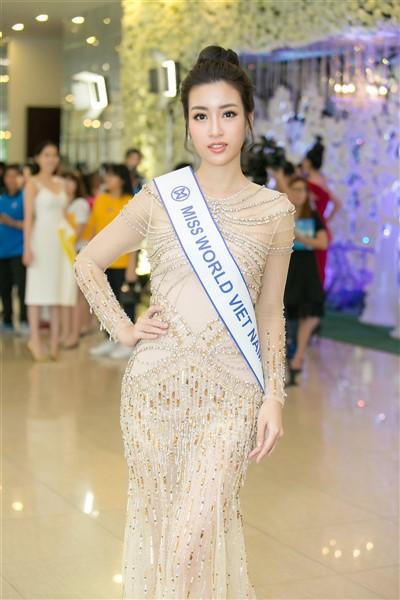 Đỗ Mỹ Linh đặt mục tiêu lọt Top 5 Hoa hậu Thế giới - Ảnh 1.