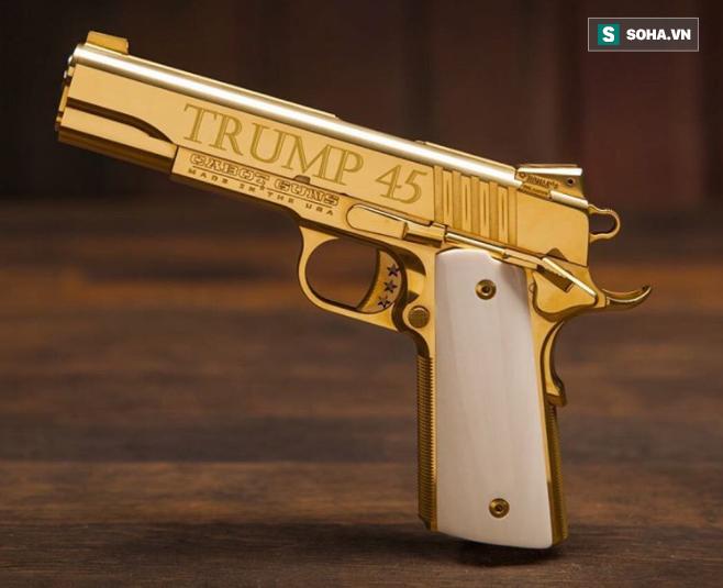 Cabot Guns TRUMP 45 - Súng lục phủ vàng chào mừng vị Tổng thống thứ 45 của Hoa Kỳ - Ảnh 1.