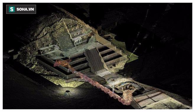 Phát hiện dòng sông thủy ngân ẩn mình dưới đáy kim tự tháp cổ - Ảnh 2.