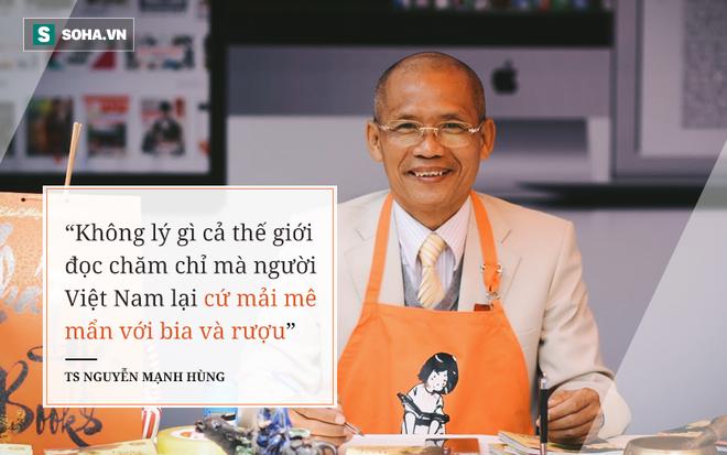 TS Nguyễn Mạnh Hùng: Người Việt uống 4 tỉ lít bia, 300 triệu lít rượu/năm, nhưng tại sao lại không thể đọc sách 10 phút mỗi ngày? - Ảnh 1.