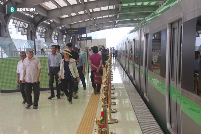 Cận cảnh nhà ga, tàu đường sắt trên cao Cát Linh - Hà Đông - ảnh 6
