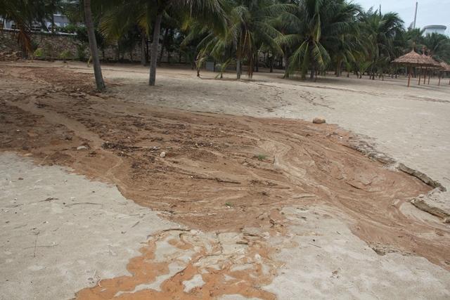 Bùn đất tại dự án biển Tiên Sa tràn xuống biển Đà Nẵng sau mưa lớn - Ảnh 3.