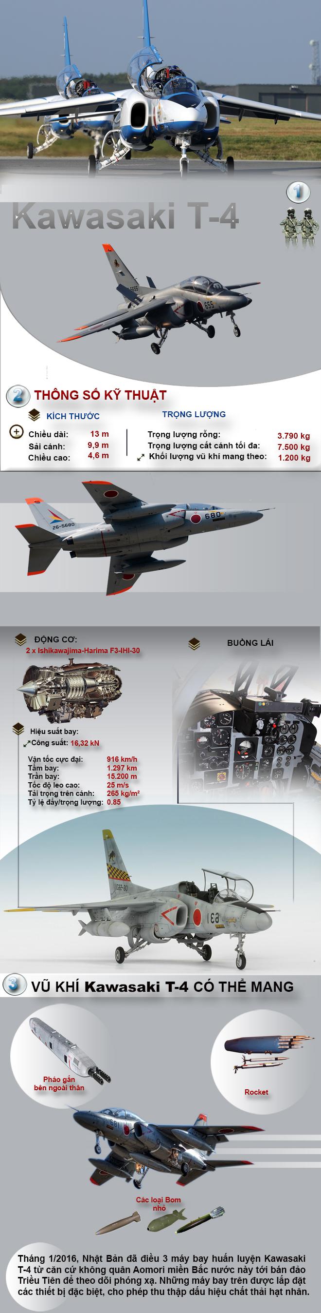 Máy bay huấn luyện Kawasaki T-4 và nhiệm vụ có một không hai trên bán đảo Triều Tiên - Ảnh 1.