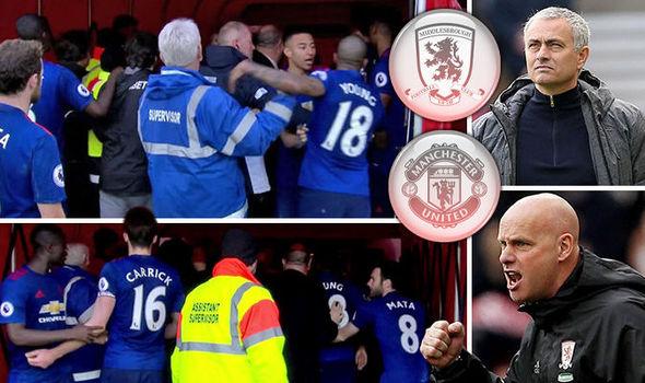 Mourinho nói gì khiến Middlesbrough và Man United lao vào ẩu đả với nhau? - Ảnh 1.